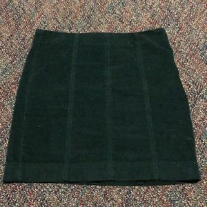 Green corduroy pencil skirt